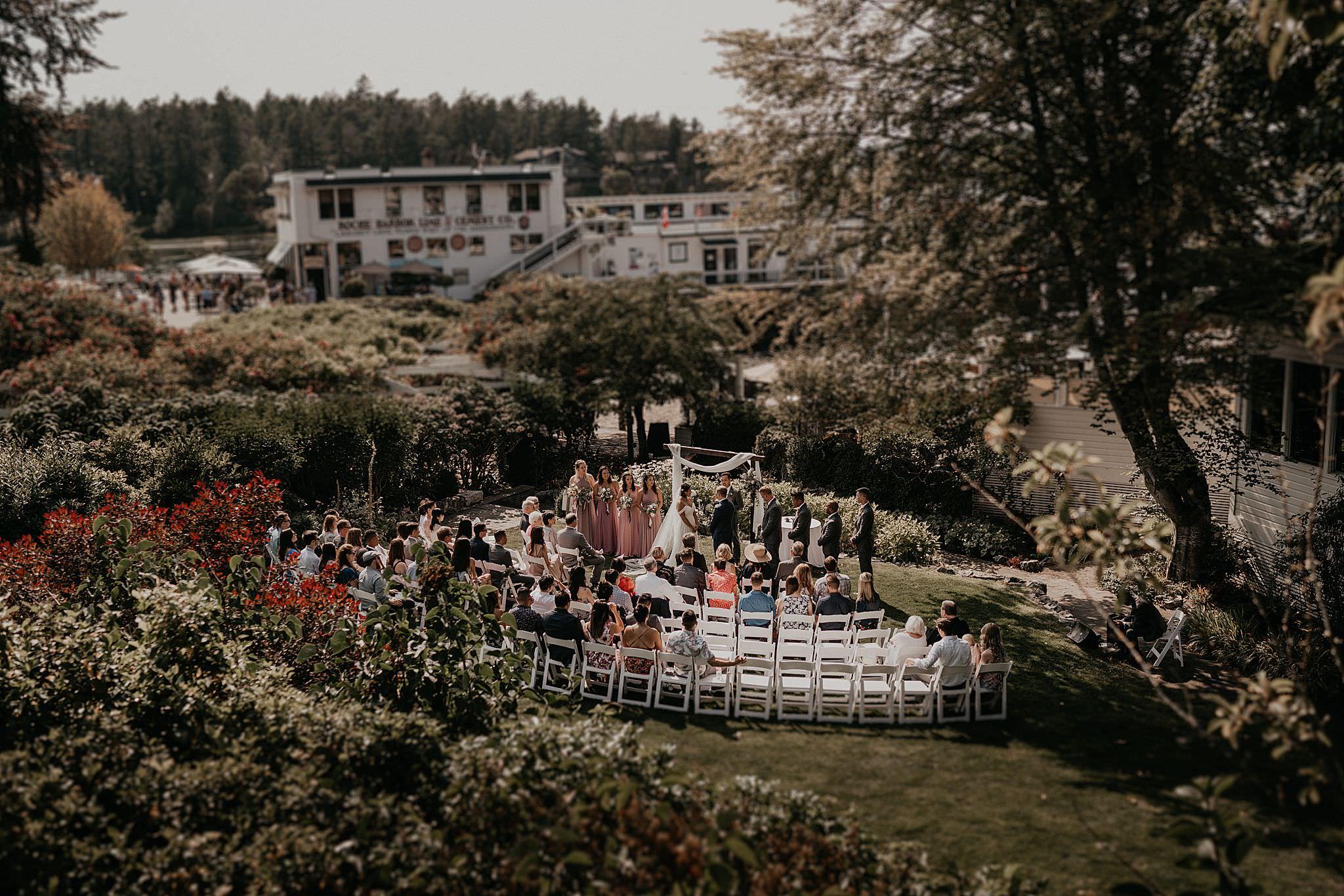 Roche Harbor wedding ceremony