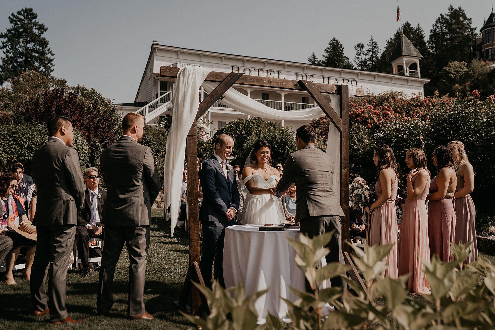 San San Kudo tea ceremony at Roche Harbor wedding ceremony