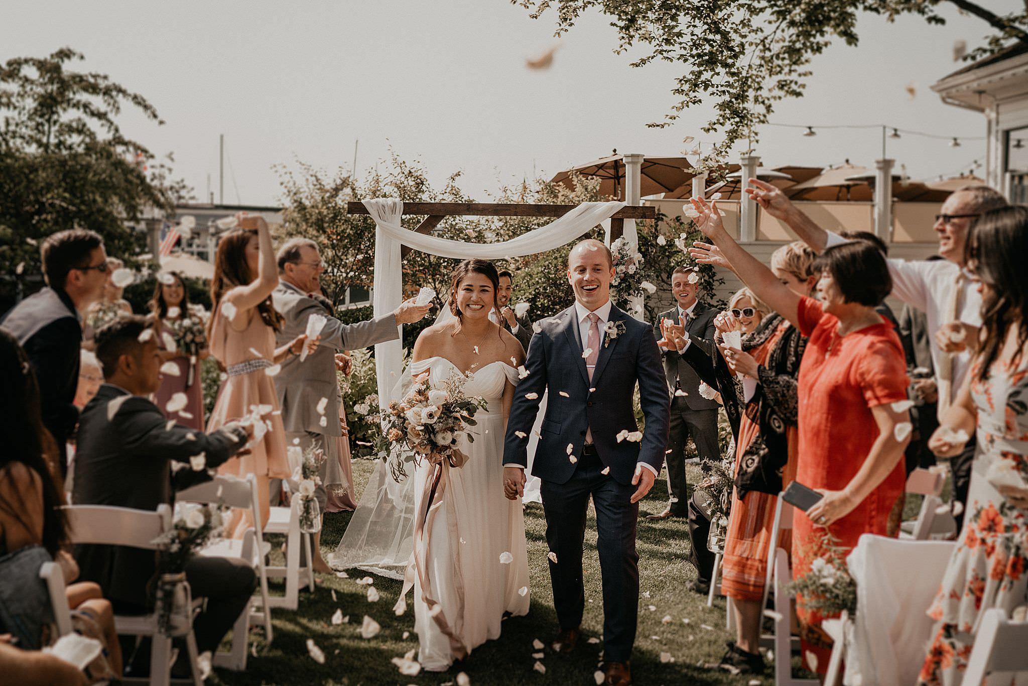 Roche Harbor resort wedding ceremony