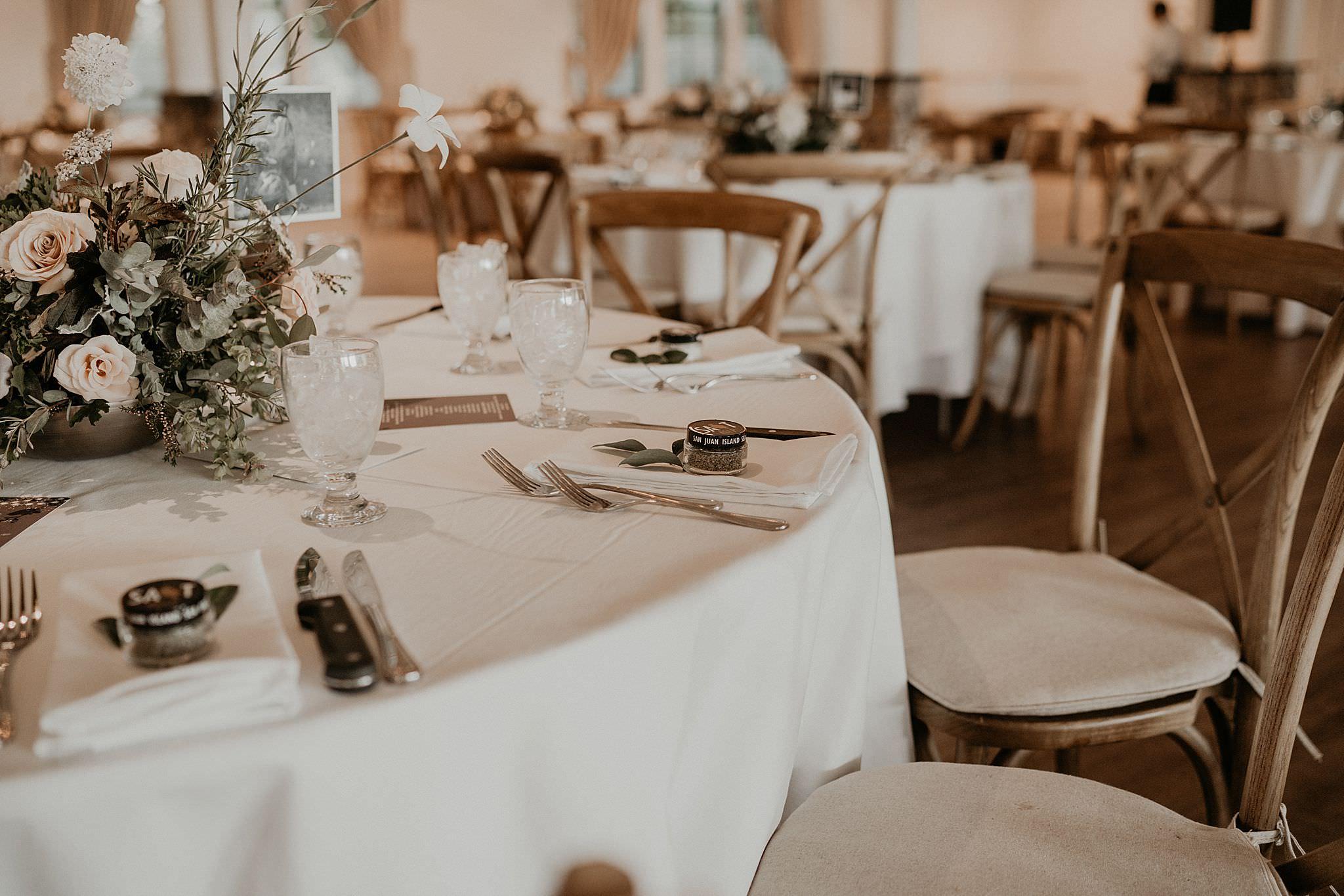 Blush palette decoration wedding reception eucalyptus