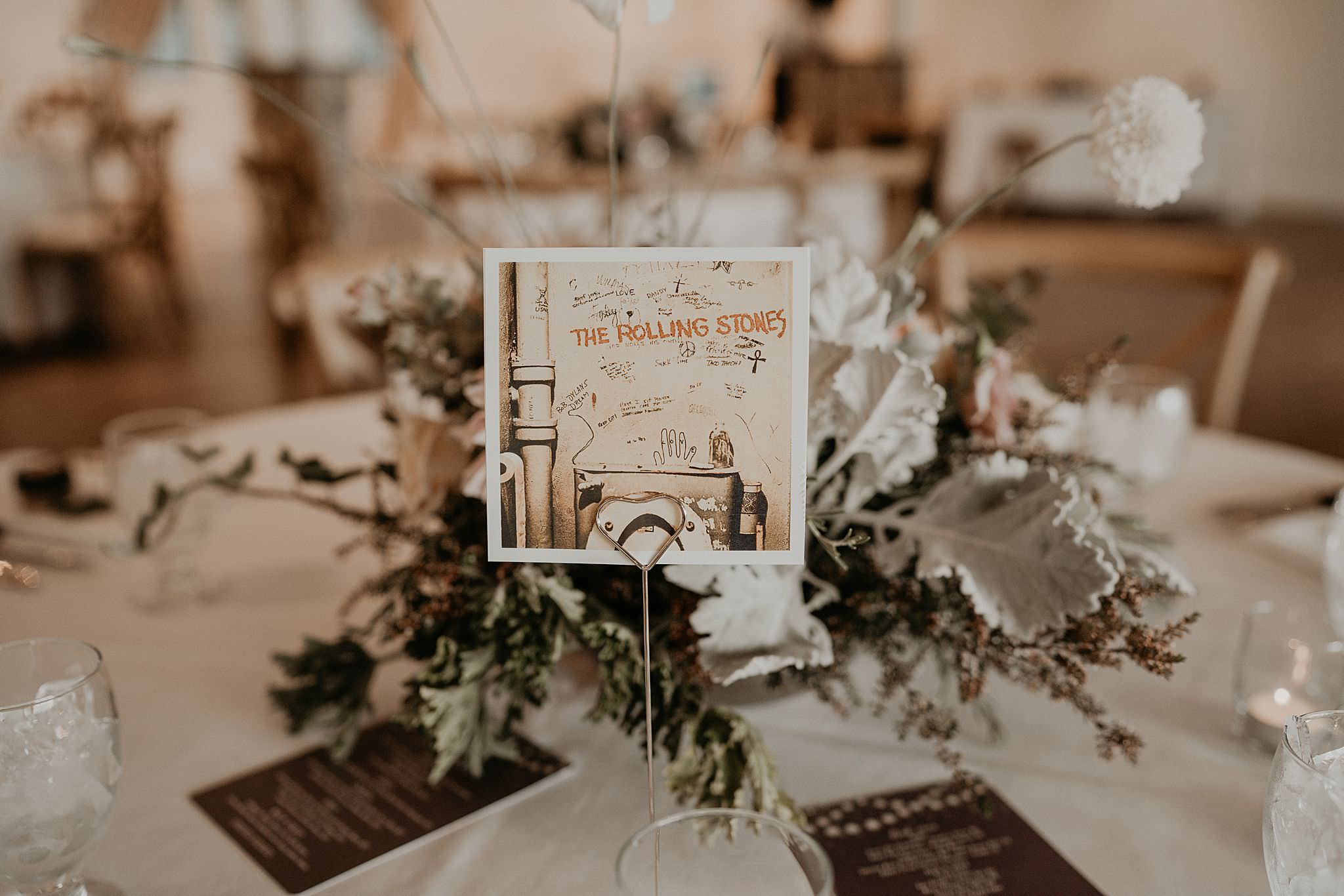 Table numbers by bands and singers the Lumineers imagine dragons Roche Harbor wedding