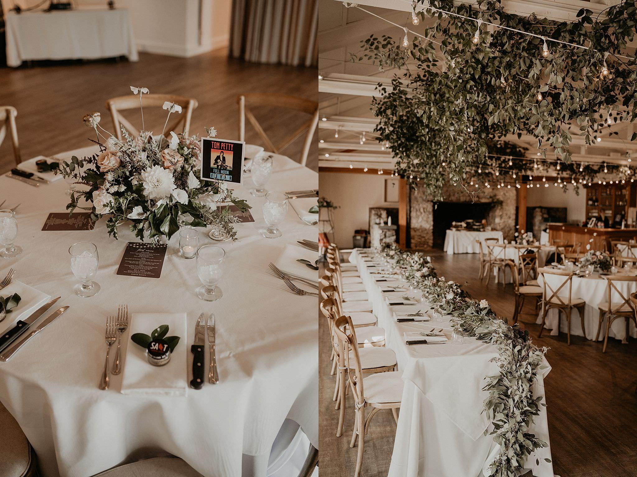 beautiful and elegant eucalyptus blush flowers wedding details and decorations Roche Harbor resort