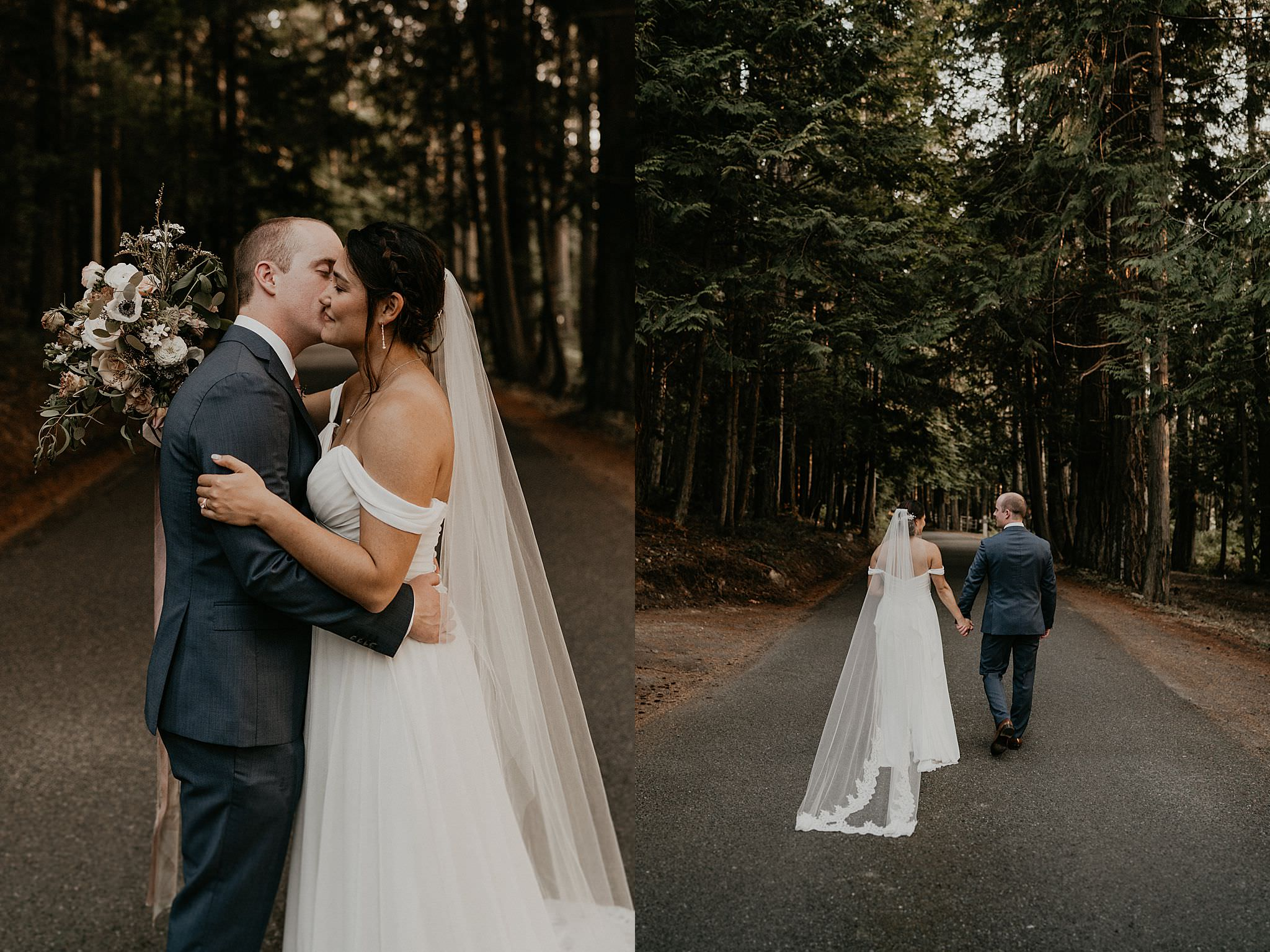 Twilight wedding inspiration fairytale woodsy Pacific Northwest San Juan islands