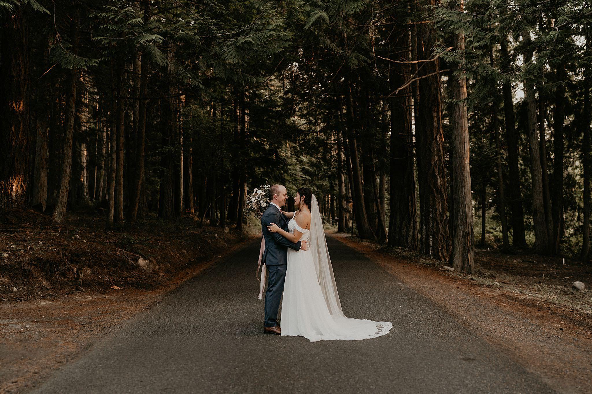 woodsy wedding and elopement Pacific Northwest on San Juan islands