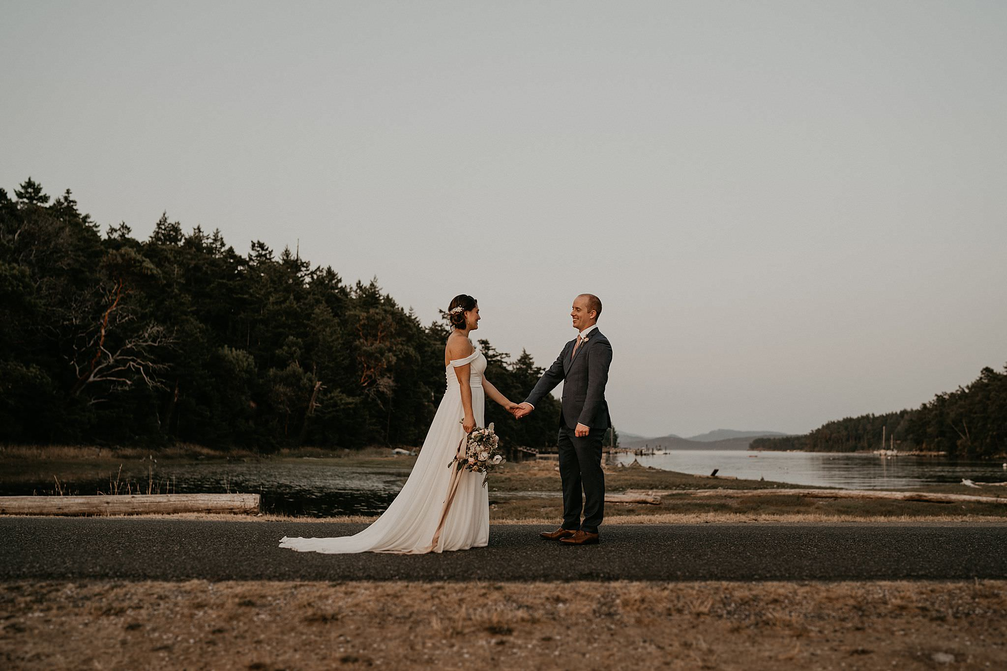 Roche Harbor beach wedding on San Juan Islands