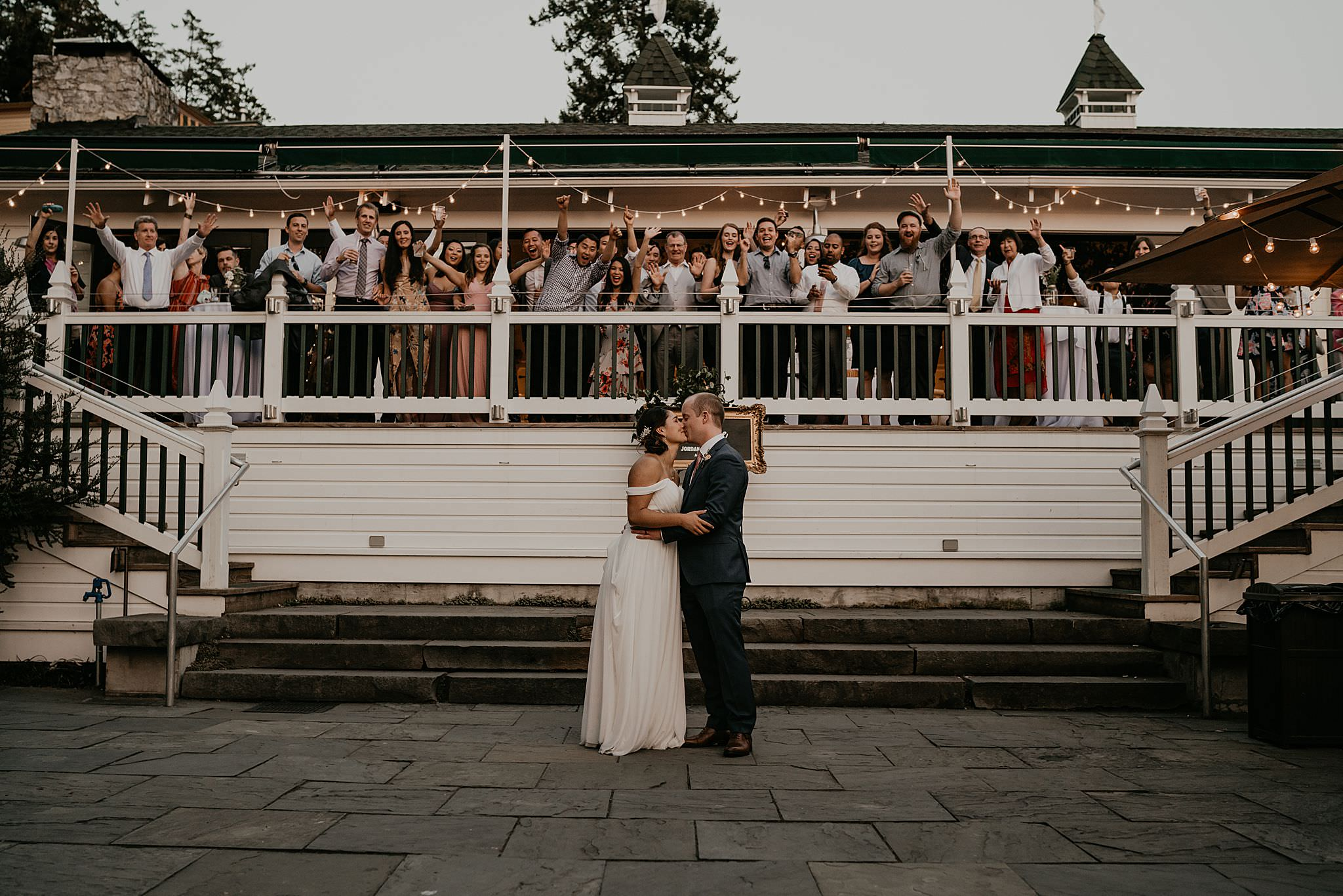 Beautiful and authentic moment during first dance at Roche Harbor resort
