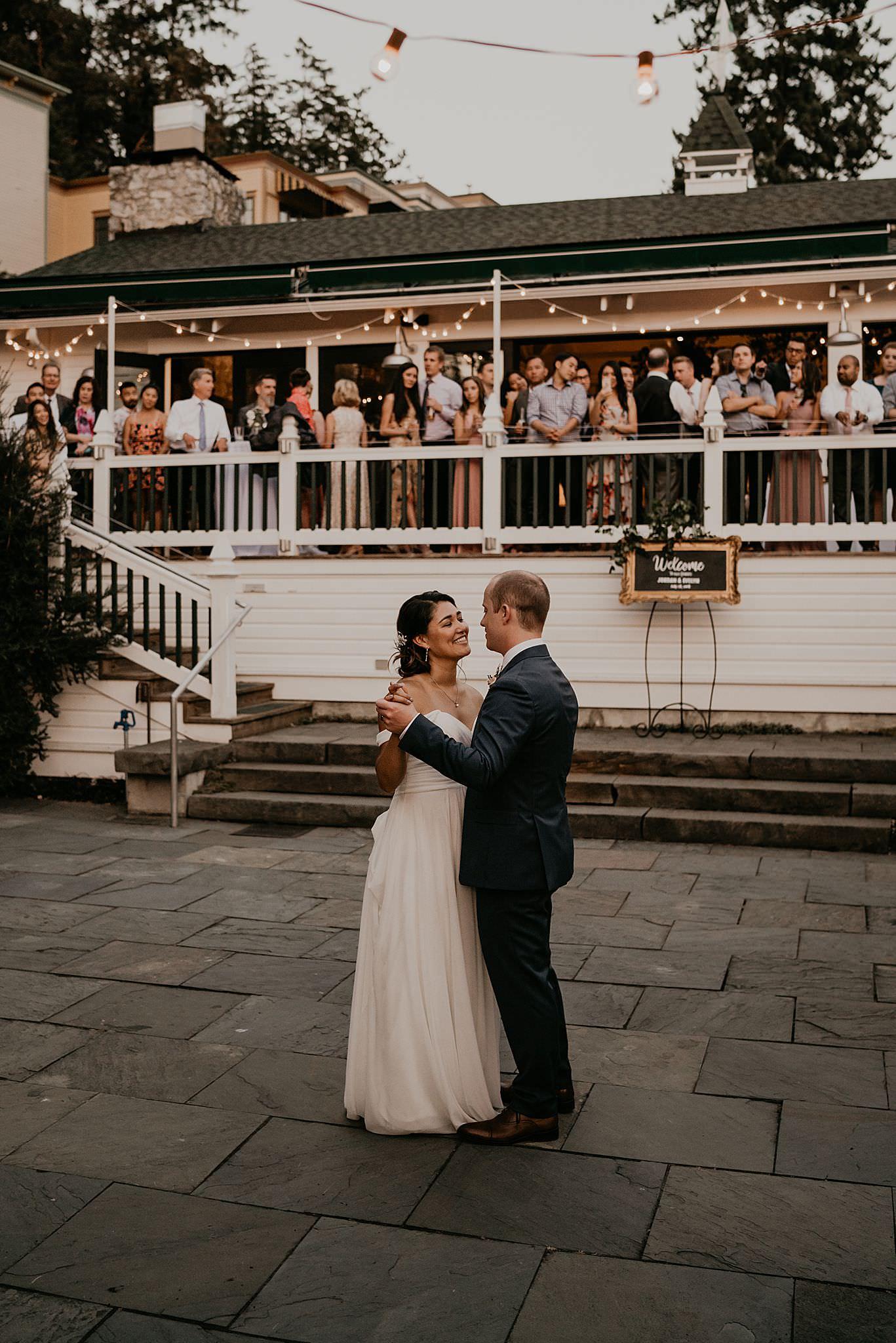 Roche Harbor resort wedding first dance