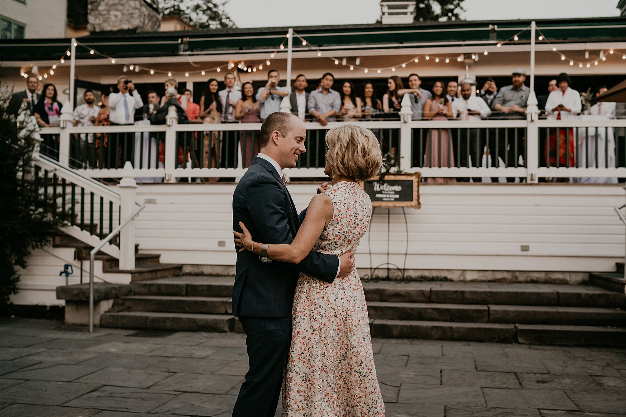 Mother and son first dance at Roche Harbor resort