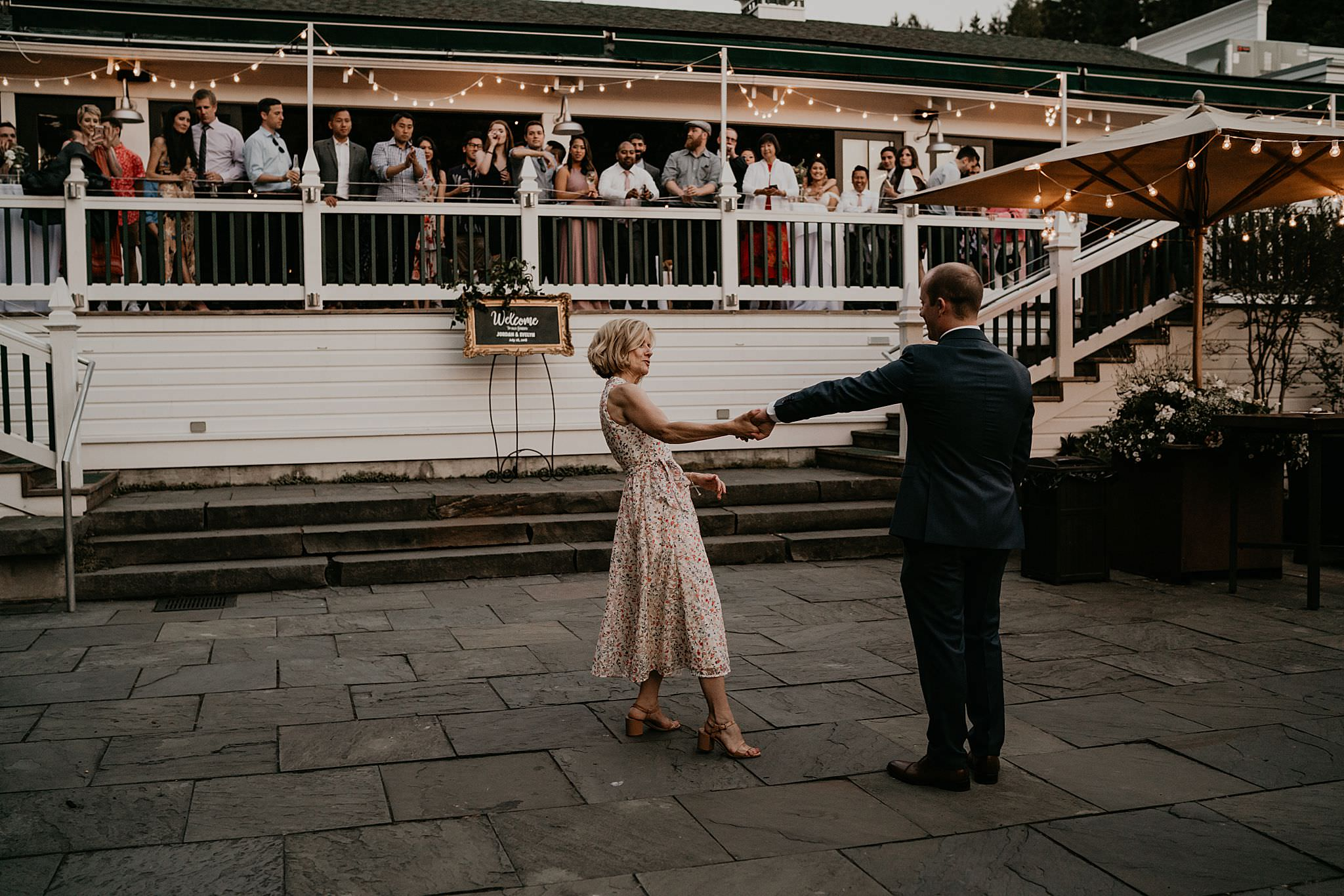 Mother and son dance wedding Seattle Washington at Roche Harbor resort