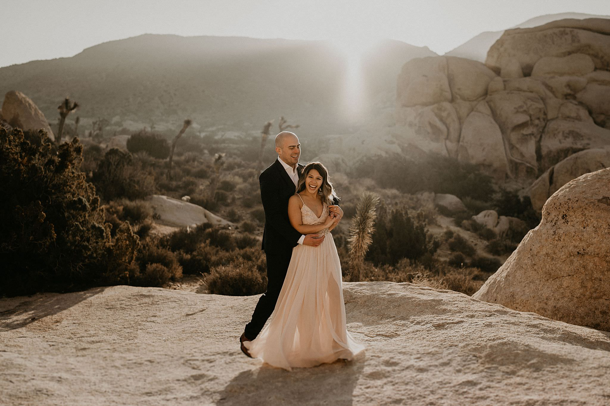 Couple eloped at Joshua Tree national park in Southern California