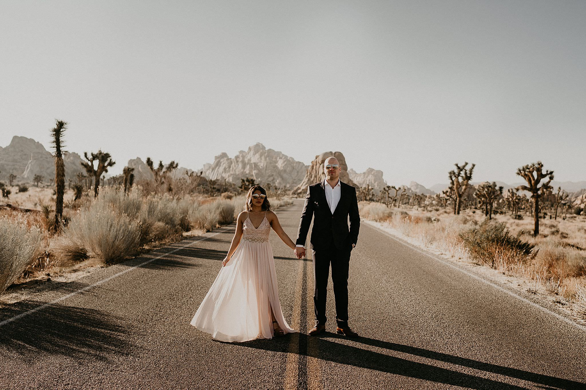 Ideas for best dress for Joshua Tree engagement photos
