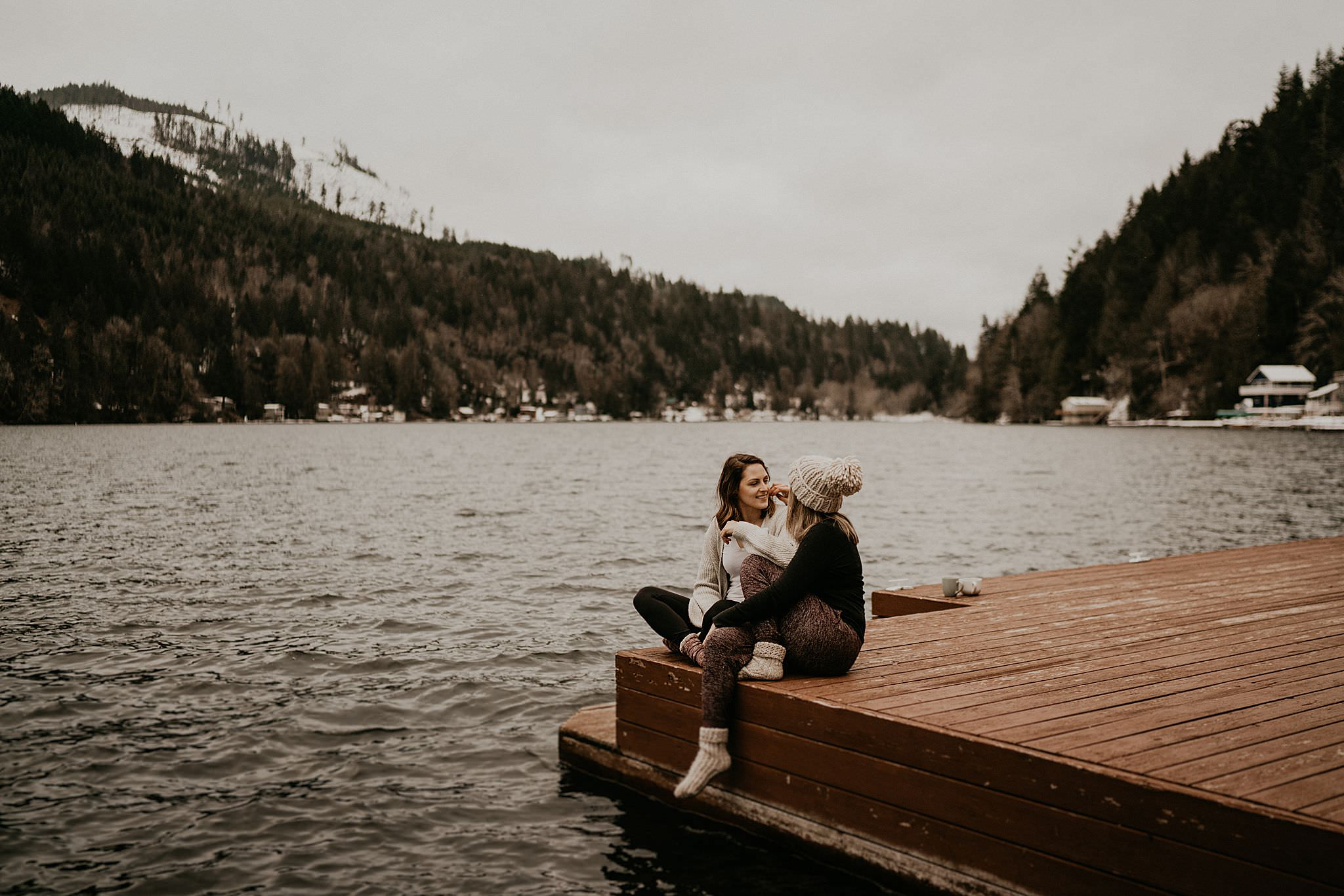 Port angeles olympic national park cabin on lake wedding