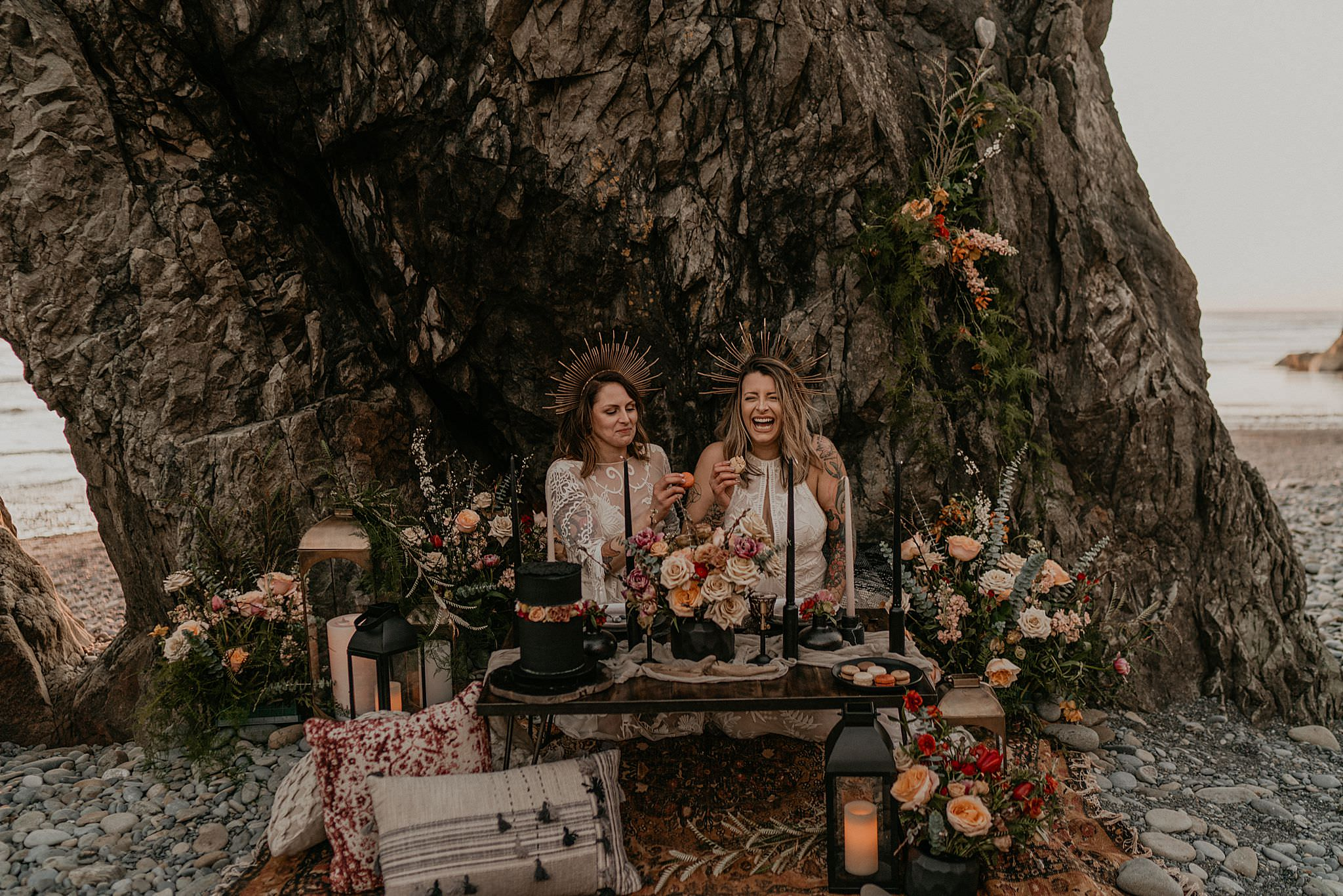 A very PNW elopement and vow renewal at Ruby Beach Olympic National Park as seen on junebug weddings