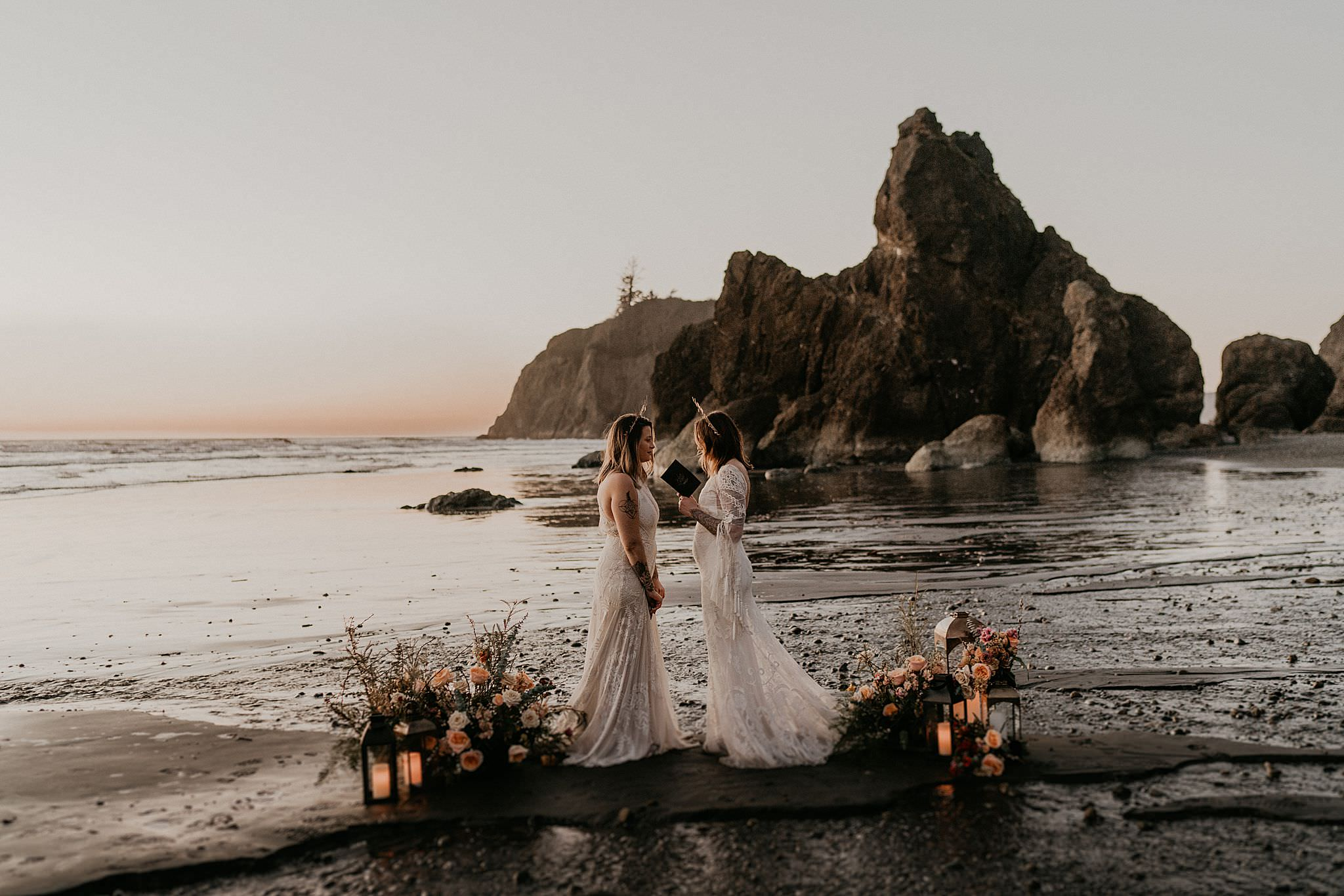 Olympic National Park elopement at Ruby Beach