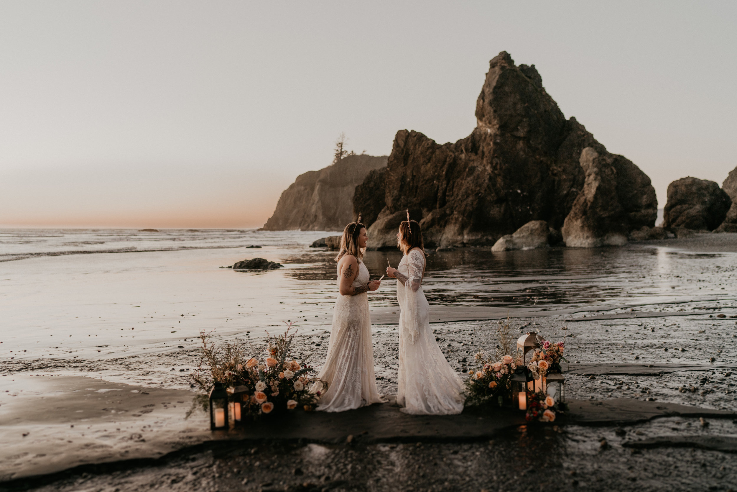 Olympic National Park adventure elopement at ruby beach