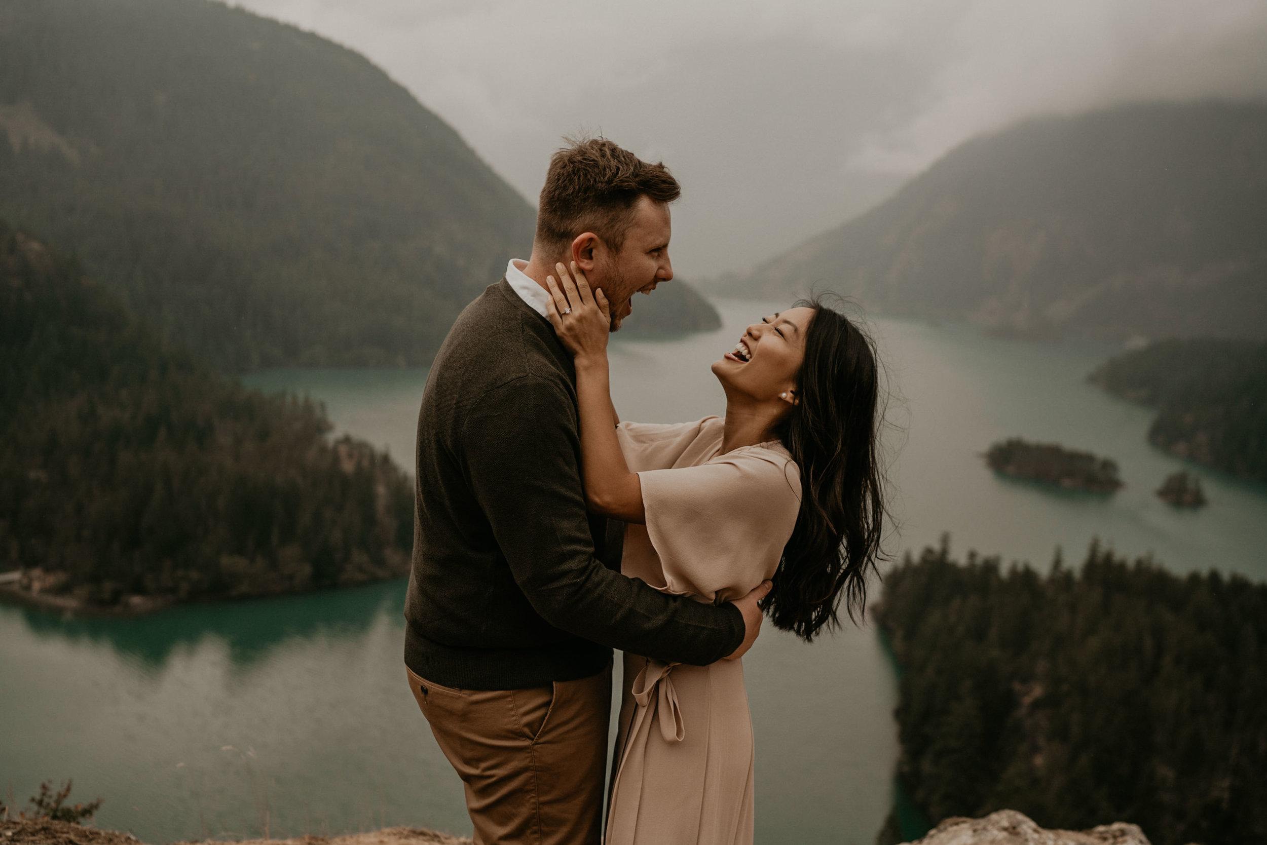 North cascades national park adventure elopement at diablo lake