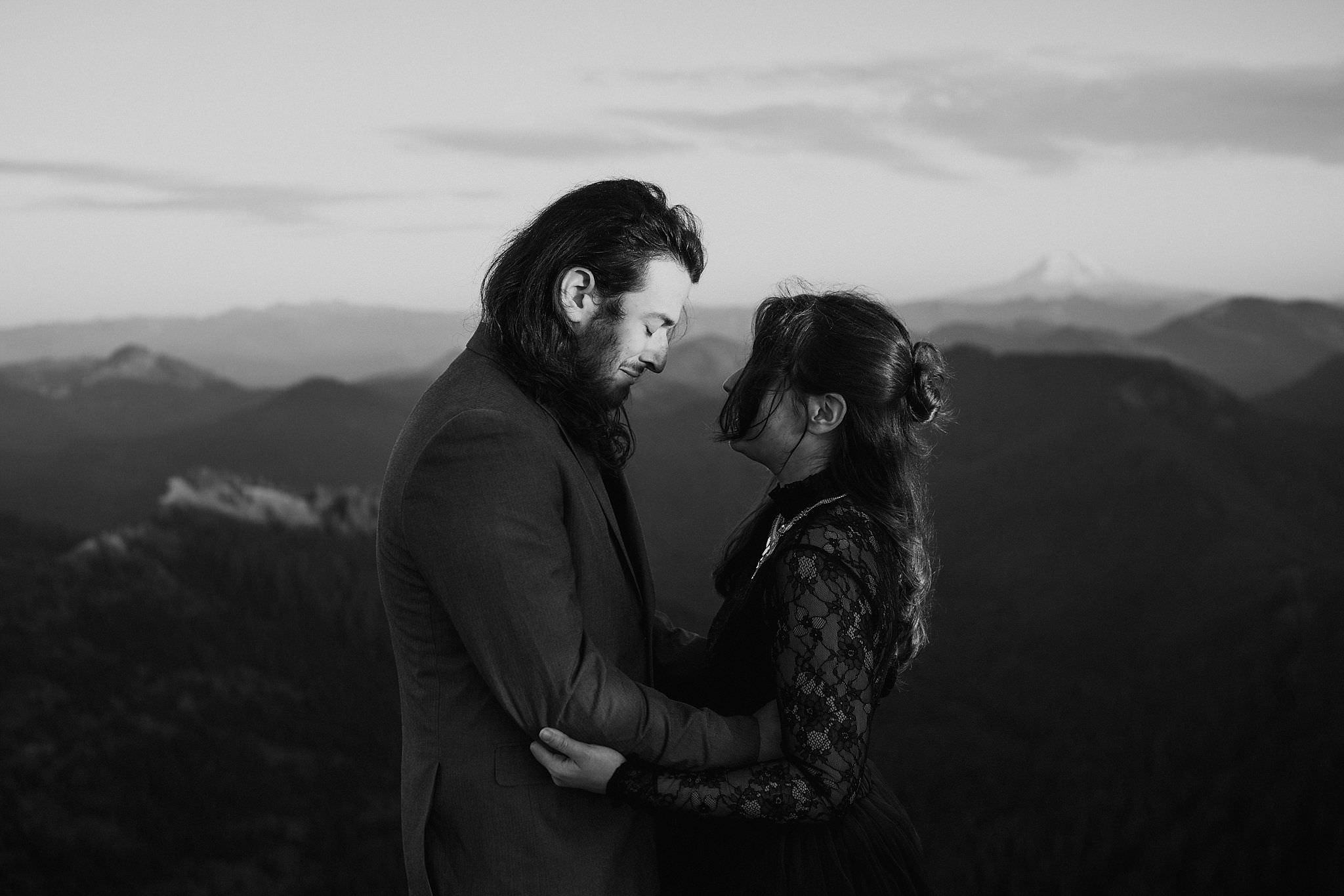 Mount Adams and Mount St. Helens adventure elopement