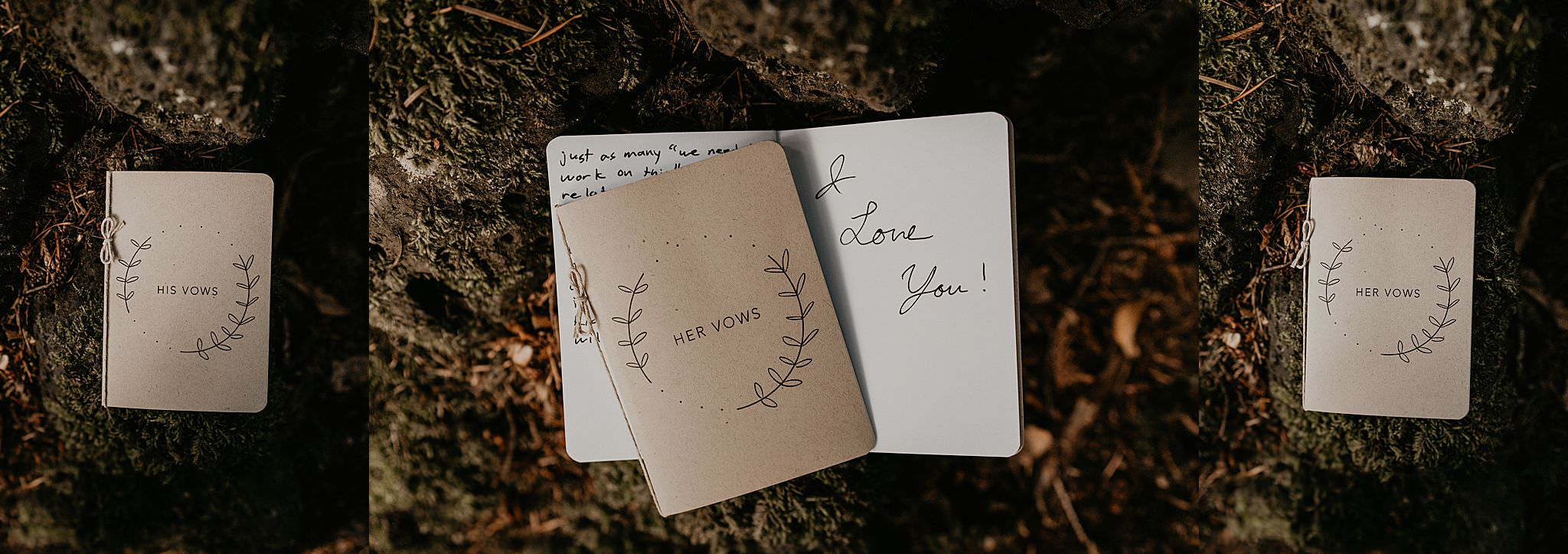 Beautiful vow books for an earthy and adventurous elopement in the pacific northwest