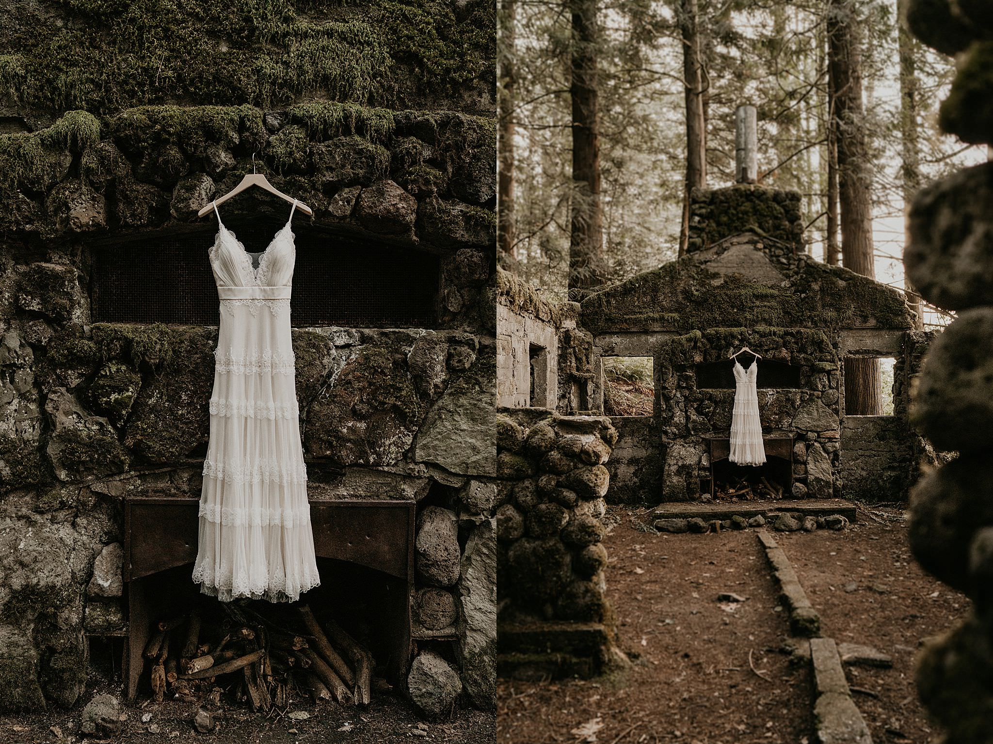 Boho Skamania Stone House Intimate Elopement