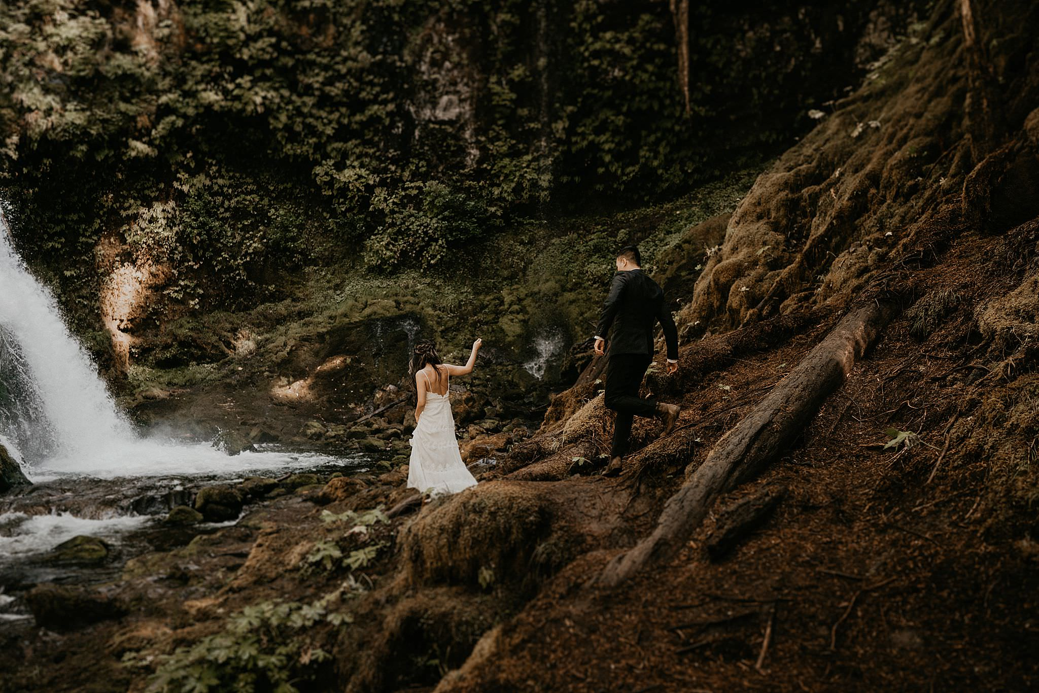 Panther Creek Falls elopement