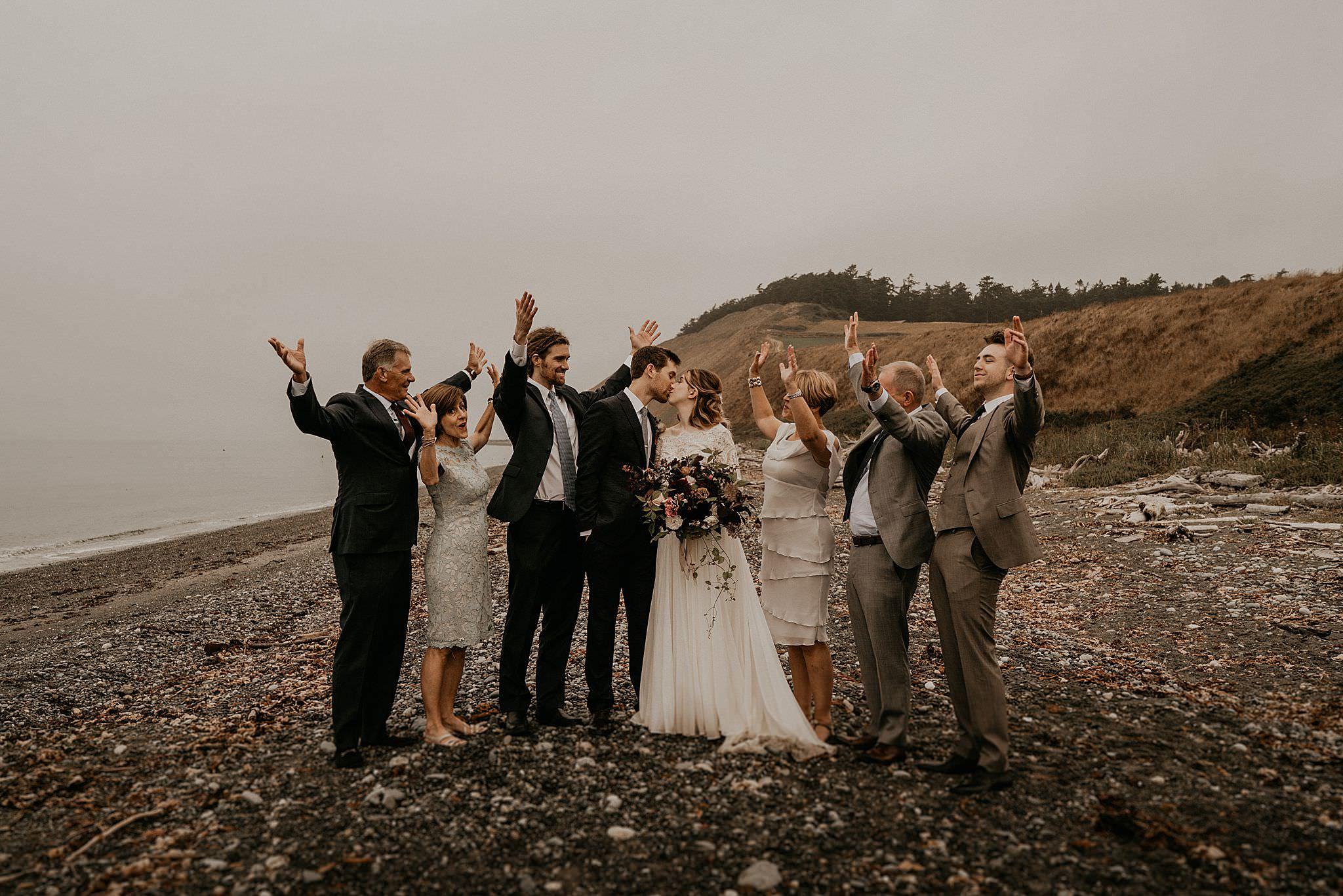 intimate wedding on whidbey island. Washington wedding photographer