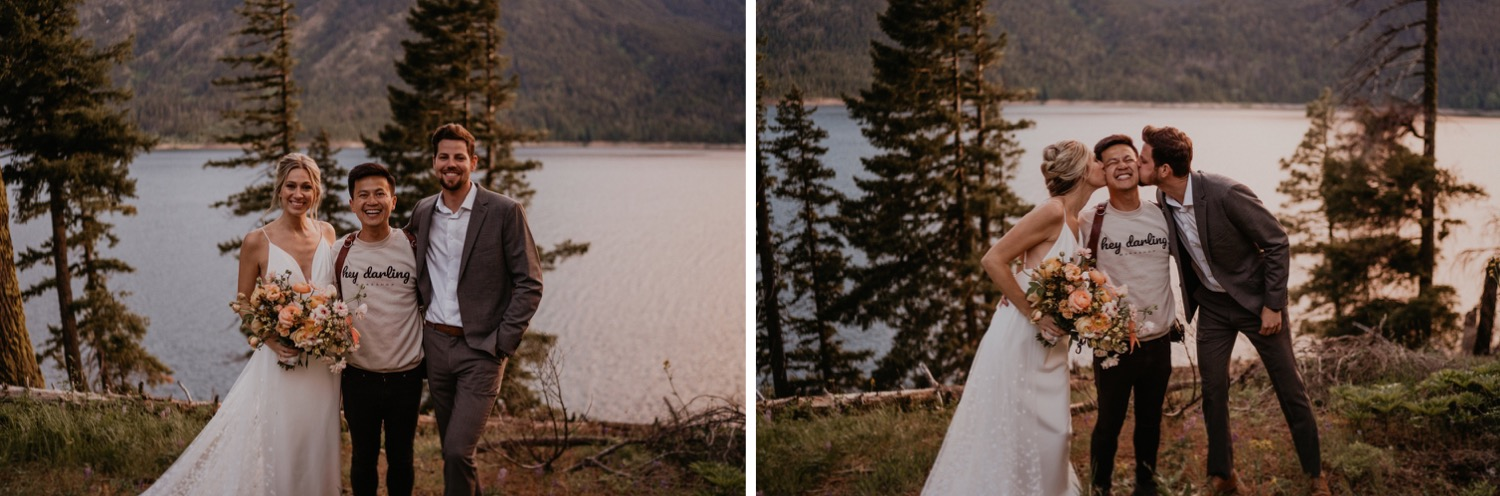 Henry Tieu Photography with elopement clients in the pacific northwest