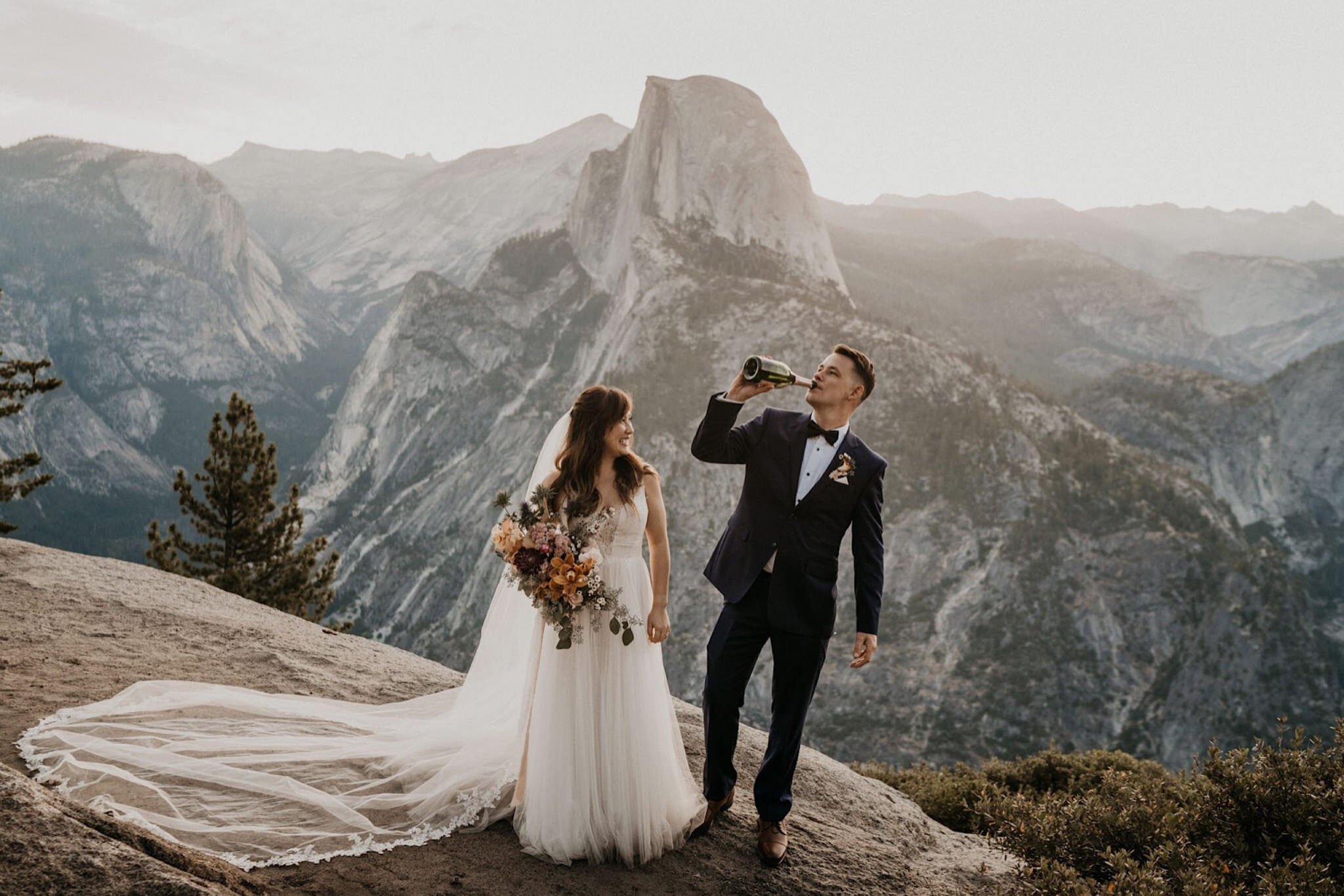 Yosemite intimate wedding in the valley