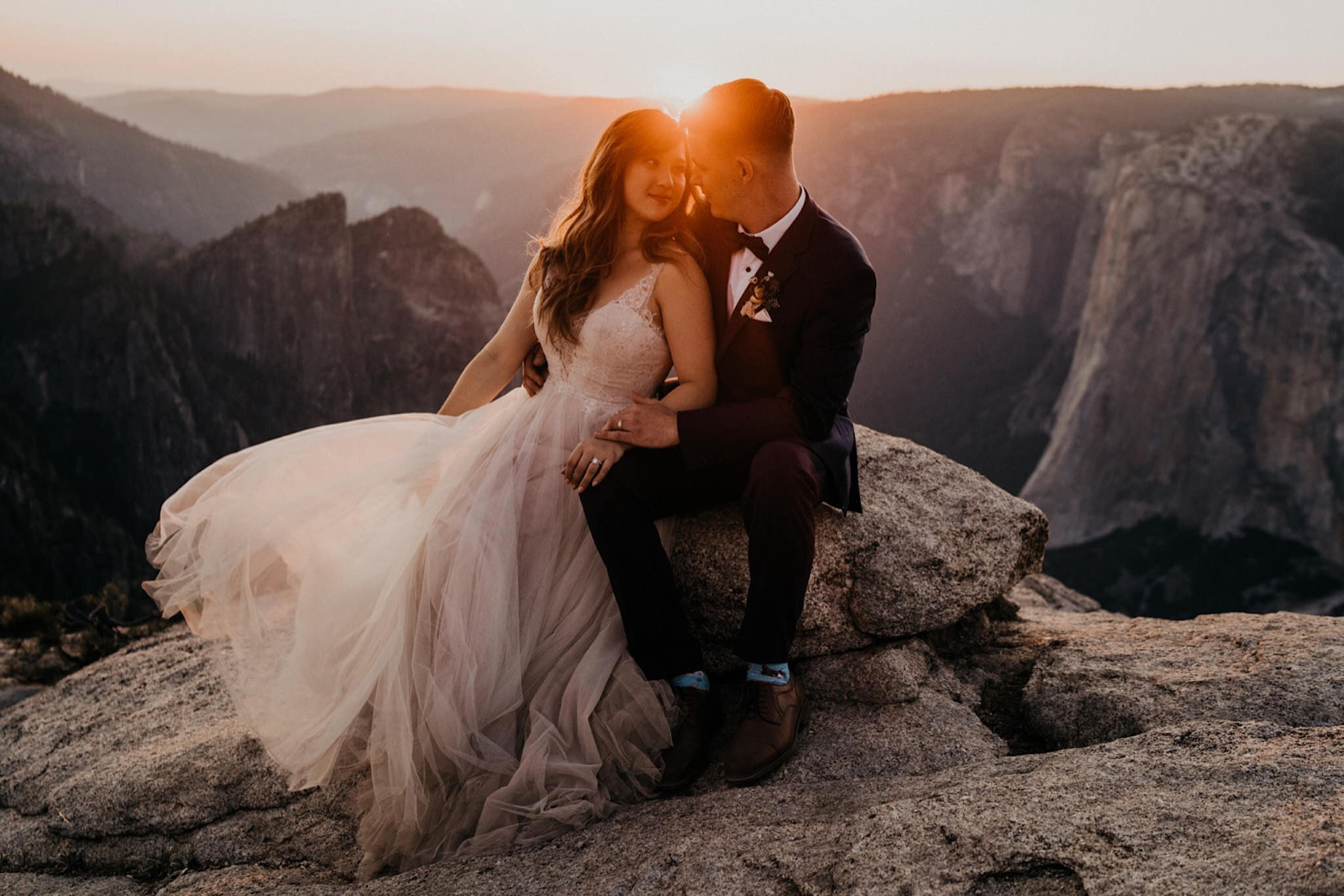 Taft Point elopement at Yosemite National Park
