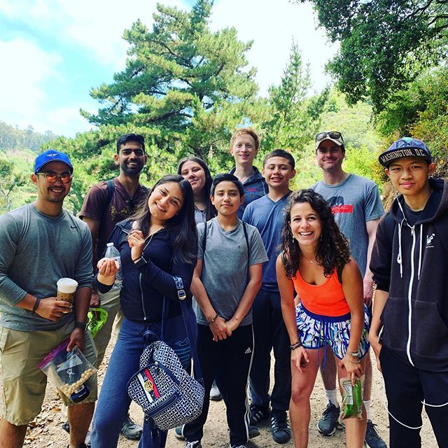 Mentors and mentees spent a beautiful Saturday afternoon hiking the Berkeley Hills!! #mentorship #squashandeducationalliance @squasheducation @crudraven @sally__fields @kcsquash @agmeoz @helbaum