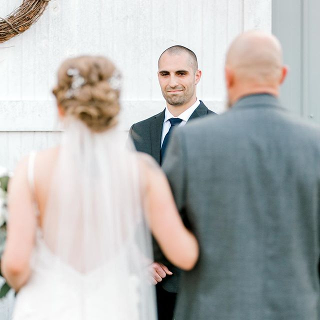 One of my favorite moments to capture during the ceremony is the Groom's face as his bride walks down the aisle. #allthefeels 😭😭