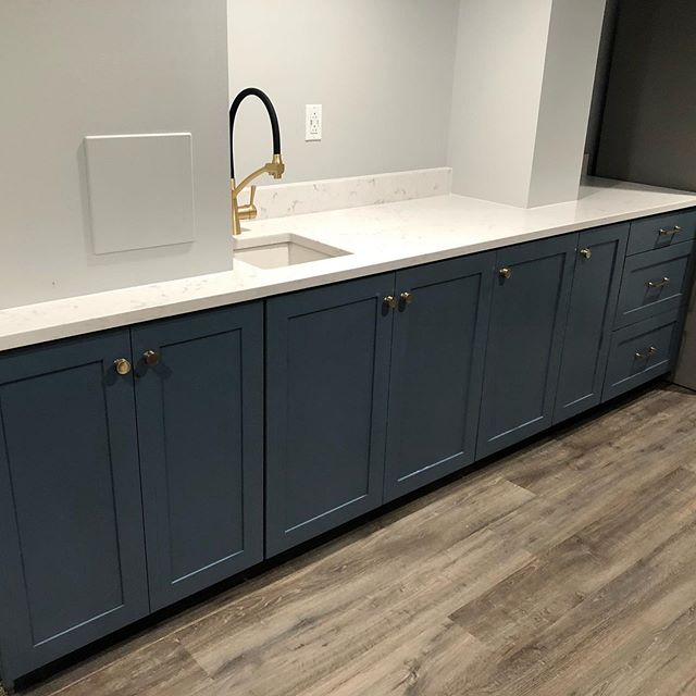 The countertops were finally installed this week and we finished up the plumbing hook ups today.  Overall I think everything turned out great.  #customcabinets #customwork #customwoodwork #happycustomer