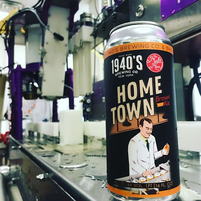 Check it! Home Town Brown Ale, a collab between The Malt Man and @1940sbrewingco.  Can release party this Friday 11/24 at the 1940's tap room.  All are welcome 🍺🍺🍺