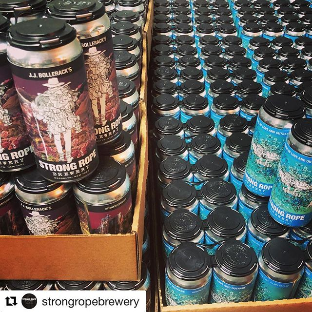 #Repost @strongropebrewery (@get_repost) ・・・ Welp, that's a wrap! Successful and smooth canning day has left me excited and exhausted. Thanks again to @maltmancanning for making our first run of cans so easy. I can't wait to share these with the world tomorrow. You can still reserve your beer tonight by following the link in our bio. Taproom opens and cans go on sale tomorrow at 3pm!! See you tomorrow for Rex Canning Day!!! #strongropebrewery #cannedbeer #rexcanningday #seedsofloveandoutrage #jjbolleracks #strongropecans #thinknydrinkny #nycbrewed #nybeer