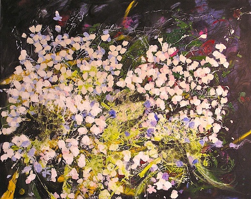 "August Hydrangeas <br> 24""x30"" Acrylic on Canvas<br>SOLD"