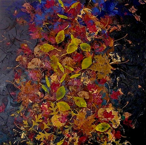 "Autumn Stillness <br>36""x36"" Acrylic on Canvas"