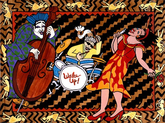 """Jazz Up Your Life <br> 15""""x20"""" Acrylic on Illustration Board"""