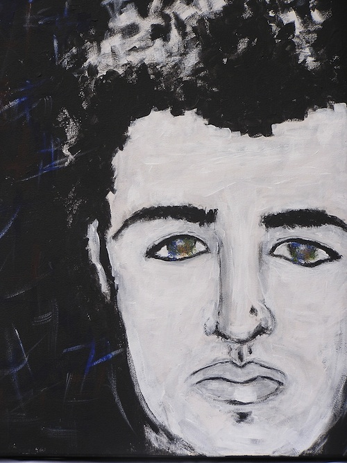 "Devo <br> 16""x20"" Acrylic on Canvas<br> SOLD"