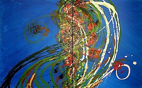 """Integration <br>30""""x48"""" Acrylic on Canvas"""