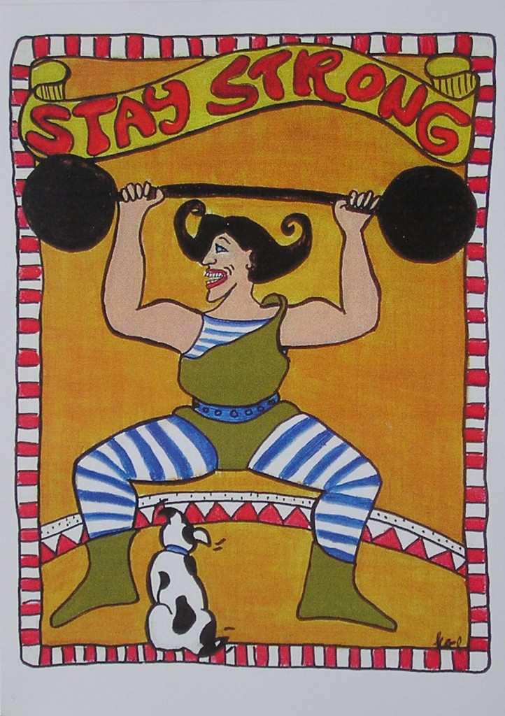 """Stay Strong <br>20"""" x 10"""" Acrylic paint on Illustration board"""