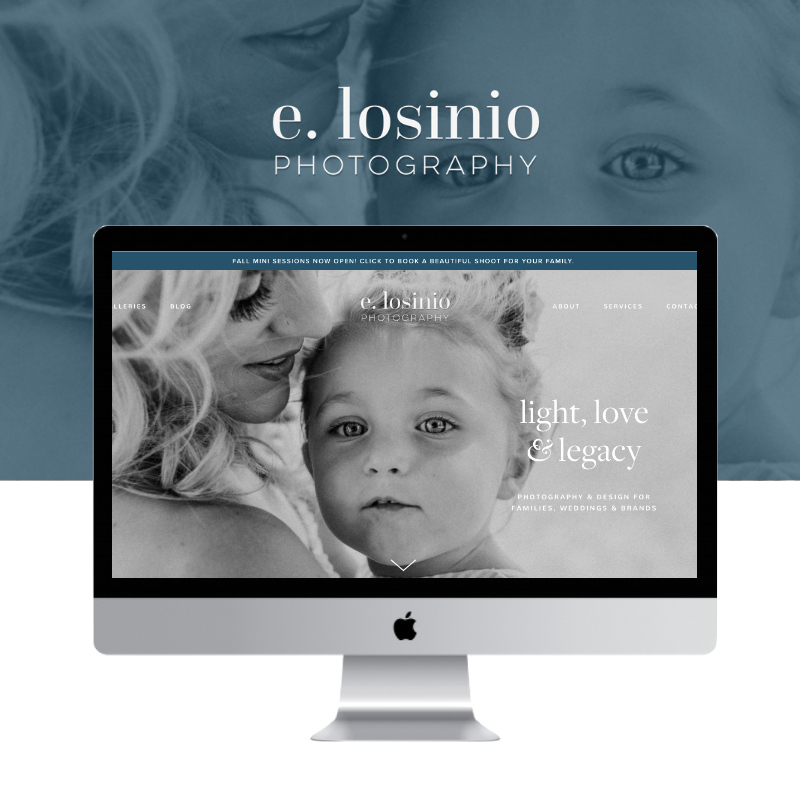 e. losinio photography: web design + copywriting