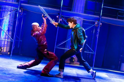 James Hayden Rodriguez in The Lightning Thief: The Percy Jackson Musical off-Broadway.