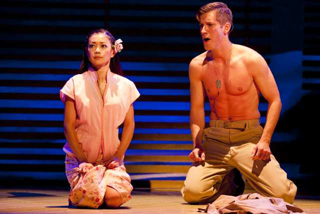 Sumie Maeda as Liat w/ Anderson Davis in the National Tour of South Pacific directed by Bartlett Sher.