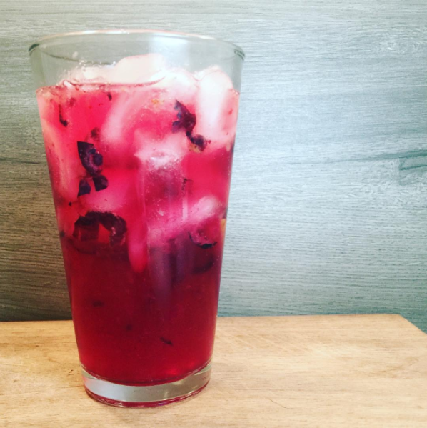 The Southern Breeze [Mocktail] - Blueberry & Lemon Zest Non-Alcoholic Beverage.