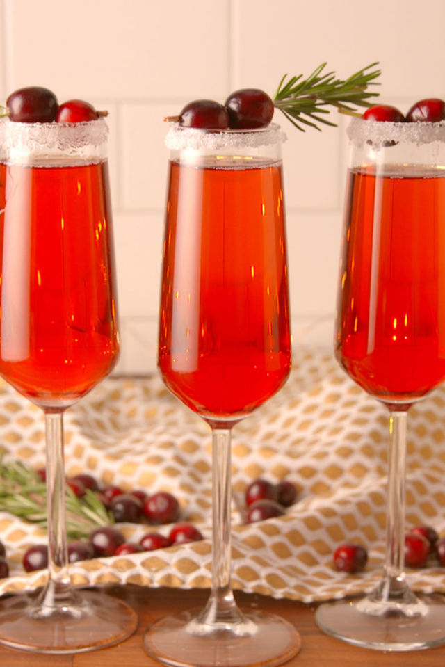 Cranberry Mimosa  - No brunch is complete without this deliciously refreshing beverage.