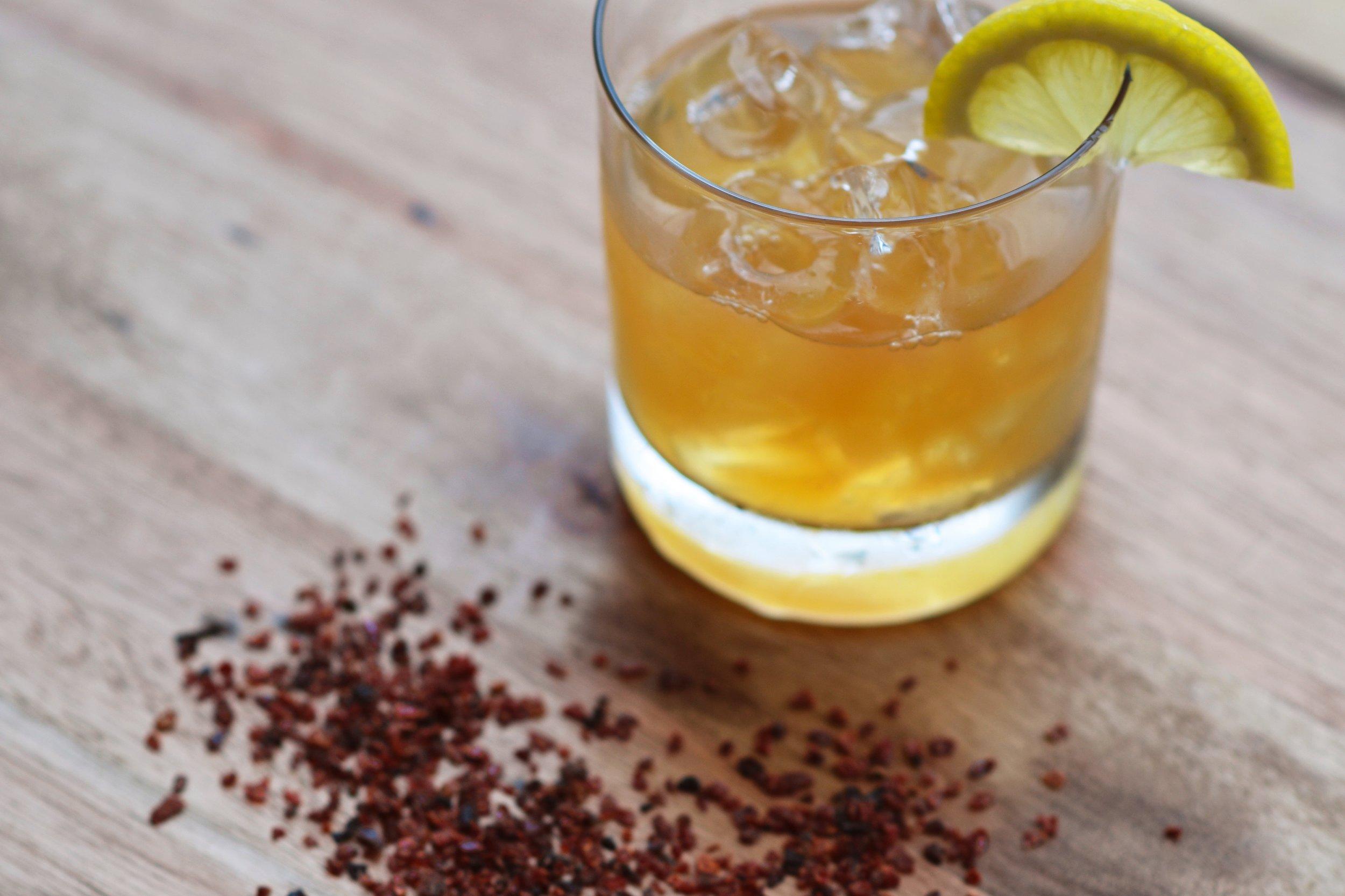 Rosehip Bourbon Sour- Photo by Sarah Murphy
