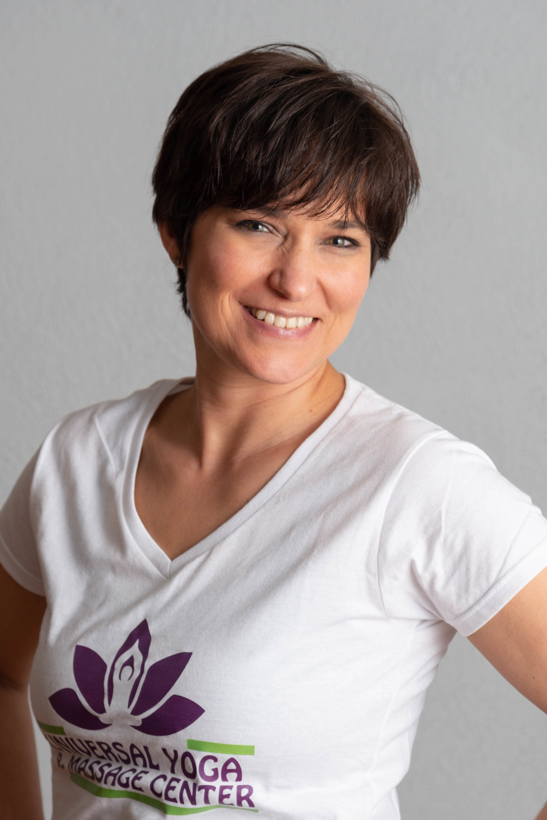 Audrey Ventura, LMT, C-IAYT, E-RYT   Audrey Ventura is a New York State Licensed Massage Therapist, a Nationally Certified Medical Massage Therapist, and the owner of Universal Yoga and Massage Center. She has over 20 years of experience in Massage Therapy. She is also a Certified Yoga Therapist through the International Association of Yoga Therapists, a Phoenix Rising Yoga Therapist, and certified in Yoga for the Low Back. Audrey's specific certifications include medical massage, geriatric massage, neuromuscular massage, sports massage, therapeutic stretching, neuromuscular re-education, orthopedic evaluation, and specific treatment for the neck, jaw, upper back, lower back, pelvis, legs, shoulders & arms. She is also certified in the Jaffe-Mellor Technique. Her specialty is pain relief and pain management and she has been providing that to the New Hartford, NY area for over 20 years!  Audrey is committed to helping you heal and maintain your health. She is continually educating herself and bringing that information into her business to give you the best results. Her great knowledge of the body and her experience give her the ability to assess and change your treatment or yoga practice whenever needed. She welcomes the opportunity to earn your trust and deliver you the best service in the industry.