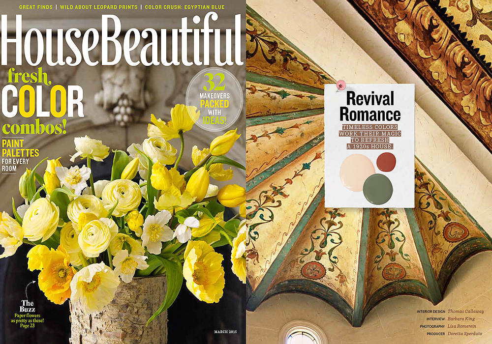 HOUSE BEAUTIFUL  Revival Romance  March 2015