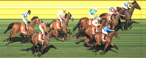 Moonee Valley Race 7 No.2 Kens Dream @ $5 1.25 UNITS Win   Result : 2nd at SP $7.50. Stayed towards the inside and got tightened for a run at the top of the straight while the winner and favourite, Our Luca, two pairs wider got a clear run which was the difference at the end. When Kens Dream did have clear galloping room in the final 100m or so it was charging home but too late. Outcome -1.25 Units.  Moonee Valley Race 7 No.3 Holy Blade @ $9 - watch price   Result : Non Qualifier – Unplaced at SP $11.00