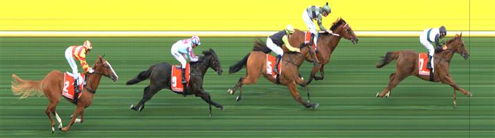 M.VALLEY (N) Race 1 No. 3 Hulk @ $2.80 (1.5 UNITS WIN)   Result :  2nd  at SP $2.20. Settled in the lead, at the top of the straight had about a two length lead but weakened late to finish 2nd. Outcome -1.50 Units.