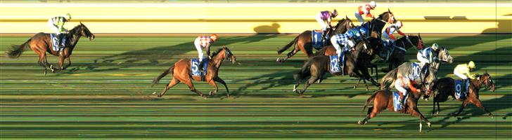 🏆🏆🏆🏆🏆🏆WARRNAMBOOL Race 10 No. 9 Connery @ $4.80 (1.32 UNITS WIN)  Result: 1st at SP $4.60, Best Tote $5.20, Betfair $5.14. After racing midfield, was held up initially in the straight though when eased out to the middle part of the track really motored home to claim victory. Outcome +6.32 Units